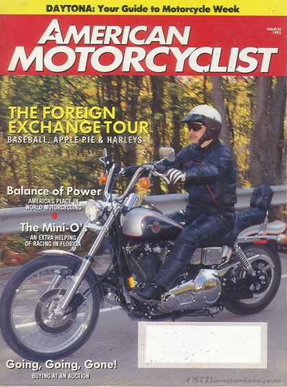 American Motorcyclist - March 1993