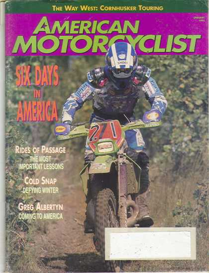 American Motorcyclist - January 1995