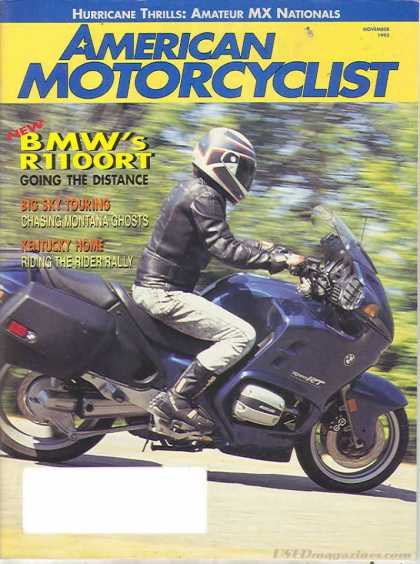 American Motorcyclist - November 1995