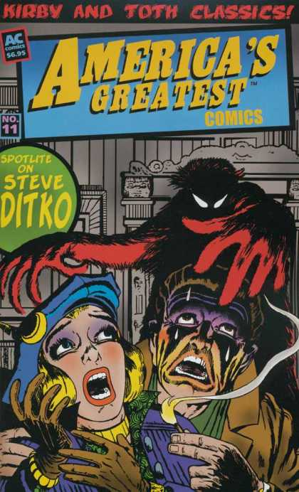 America's Greatest Comics 11 - Steve Ditko - Kirby And Toth Classics - Monster - Frightened Man - Frightened Woman