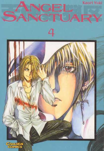Angel Sanctuary 4 - White Shirt - Blood - Guy - Blonde Hair - Cross