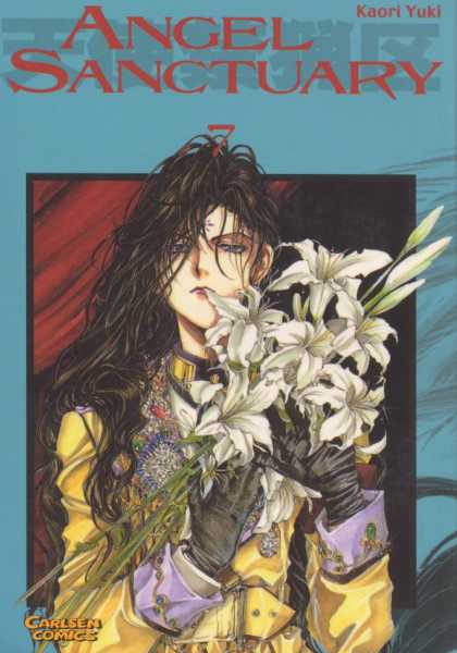 Angel Sanctuary 7 - Lady - Flowers - Gloves - Long Hair - Blue