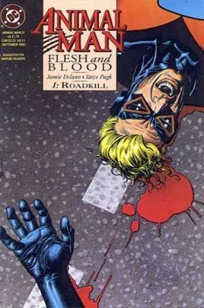 Animal Man 51 - Flesh And Blood - Roadkill - Jamie Delano - Steve Purgh - Blood - Brian Bolland