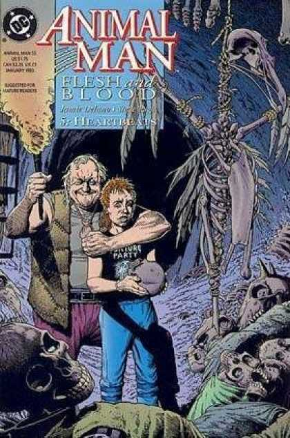 Animal Man 55 - Flesh And Blood - Cave - Bones - Skeleton - Hostage - Brian Bolland