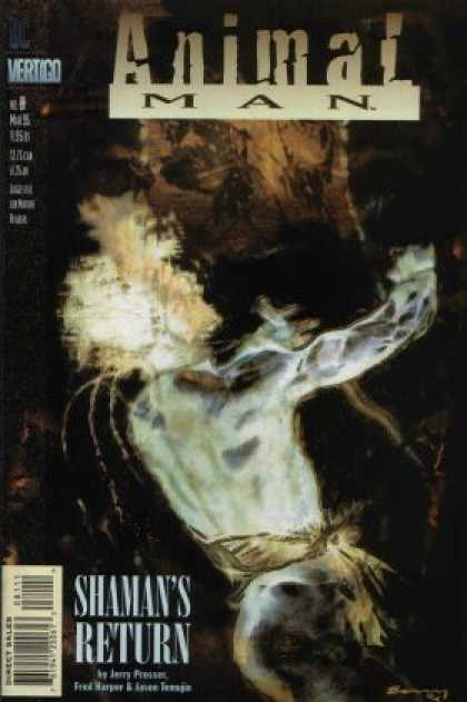 Animal Man 81 - Photoshopped Picture - Shamans Return - Terror - White Man - Scratchy Black Background