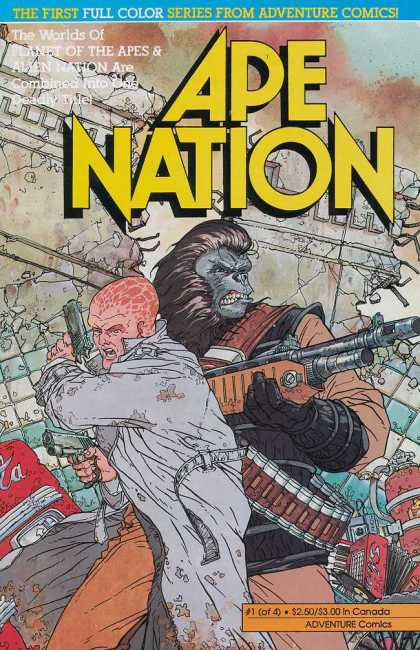 Ape Nation 1 - Adventure Comics - Planet Of The Apes - Alien Nation - Full Color - 1 Of 4