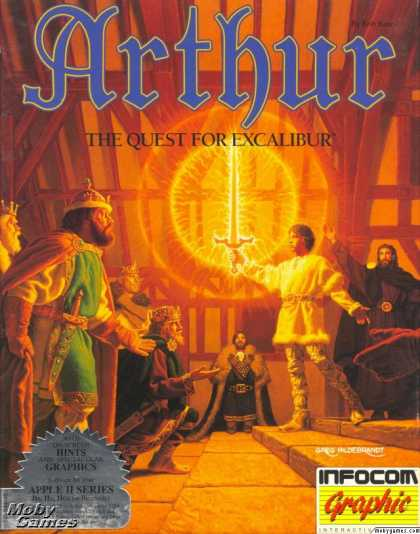 Apple II Games - Arthur: The Quest for Excalibur