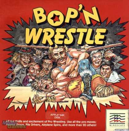 Apple II Games - Bop'N Wrestle