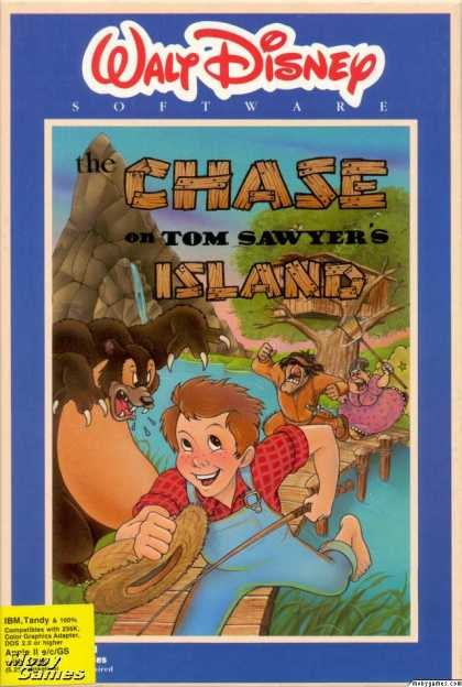 Apple II Games - The Chase on Tom Sawyer's Island