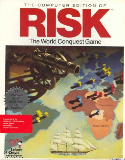 Apple II Games - The Computer Edition of Risk: The World Conquest Game