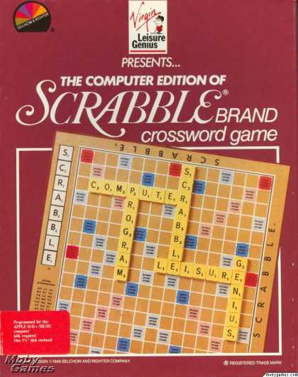 Apple II Games - The Computer Edition of Scrabble Brand Crossword Game