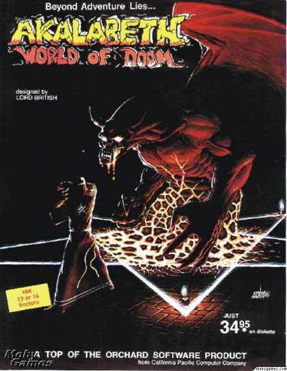 Apple II Games - Akalabeth: World of Doom