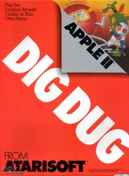 Apple II Games - Dig Dug