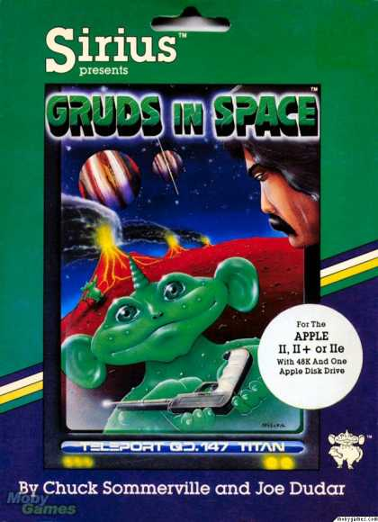 Apple II Games - Gruds In Space