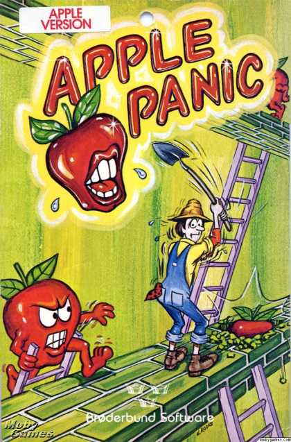 Apple II Games - Apple Panic
