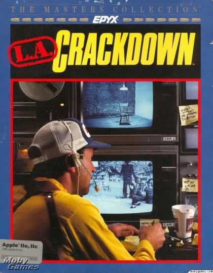 Apple II Games - L.A. Crackdown