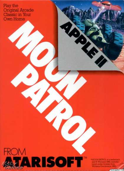 Apple II Games - Moon Patrol