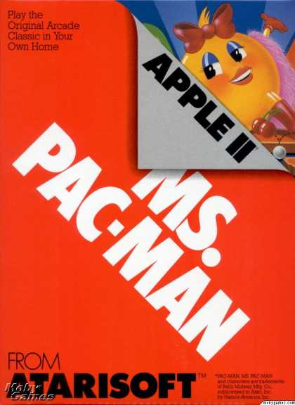 Apple II Games - Ms. Pac-Man