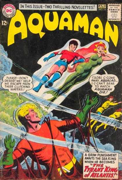 Aquaman 14 - Two Thrilling Novelettes - Aqualad - The Tyrant King Of Atlantis - Sea King - Grim Punishment - Howard Porter