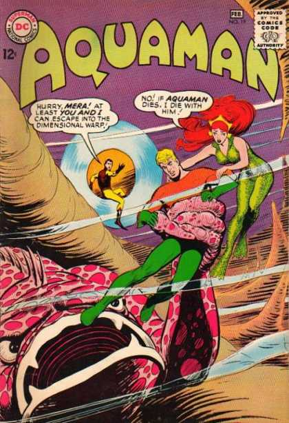 Aquaman 19 - Mera - Dimensional Warp - Eaten By Monster - Mermaid - Red Hair - Alan Davis