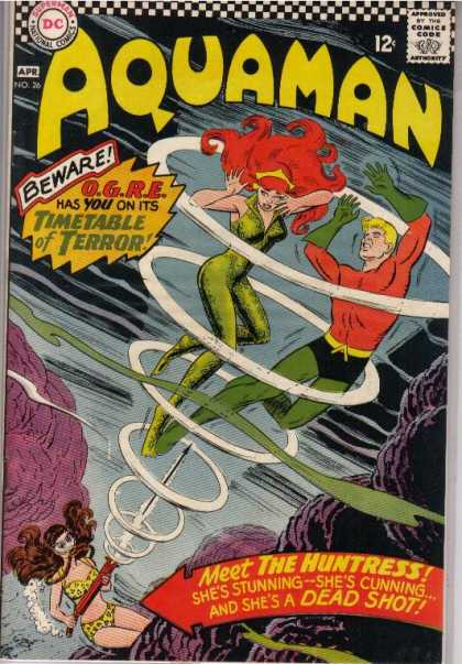 Aquaman 26 - The Huntress - Superheroes - Swimming - Super Powers - Water - Nick Cardy, Patrick Gleason