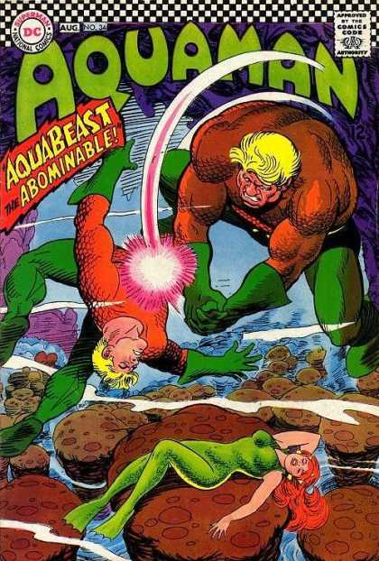 Aquaman 34 - Abominable - Punch - Water - Rocks - Woman - Mark McKenna, Nick Cardy