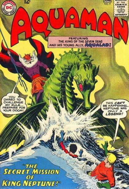 Aquaman 9 - Aquaman - Aqualad - Trident - Neptune - The Secret Mission Of King Neptune - Sciver Van, Vince Giarrano