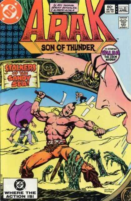 Arak 20 - Stalkers Of The Sandy Sea - Valda The Iron Maiden - Tomahawk - Dc Comics - Sword