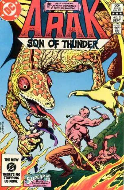 Arak 25 - Son Of Thunder - Dragon - Fire - Superman - Captured Woman