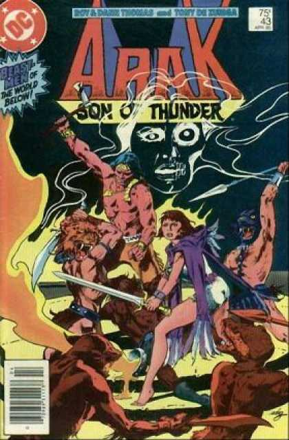 Arak 43 - Son Of Thunder - Sword - Spear - Purple Cape - Fire