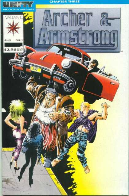 Archer & Armstrong 1 - Unity - Lifted The Car - Heavy Man - Two Woman - One Strong Man - Frank Miller