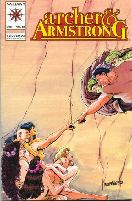 Archer & Armstrong 18 - Touching - Flowers In Hair - Rock Wall - Medical Mask - Long Hair