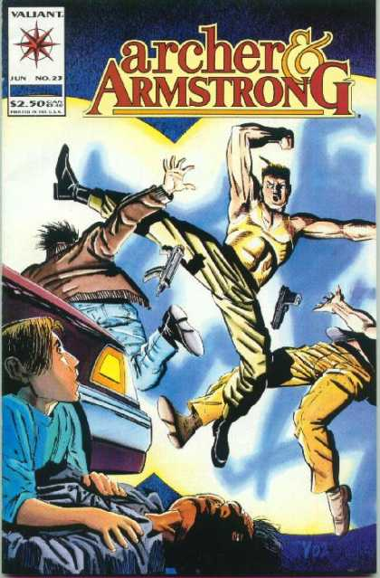 Archer & Armstrong 23 - No 22 - Child - Car - Fight - Valiante