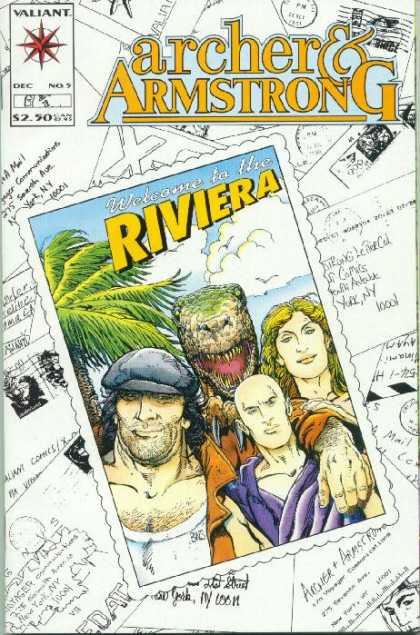 Archer & Armstrong 5 - Riviera - Donisaur - Post Cards - Valiant - Blue Hat - Barry Windsor-Smith