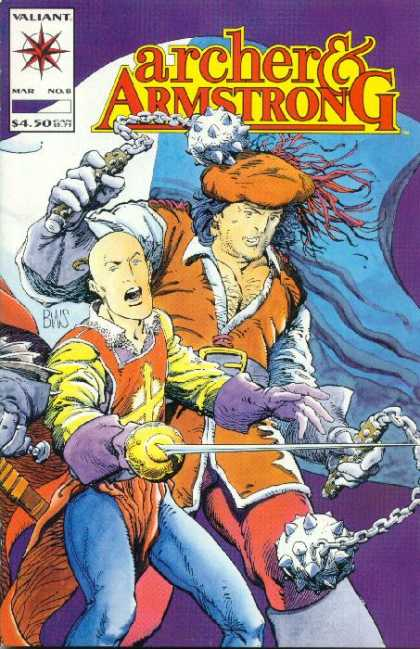 Archer & Armstrong 8 - Heroes - Sword - Weapons - Bald - Cap - Barry Windsor-Smith