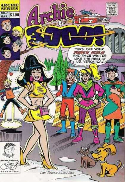 Archie 3000 7 - Veronica - Betty - Jughead - Force Field - Winter - Dan Parent, Jon D'Agostino
