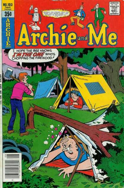 Archie and Me 103 - Camping - Jughead - Tents - Axe - Mr Weatherbee