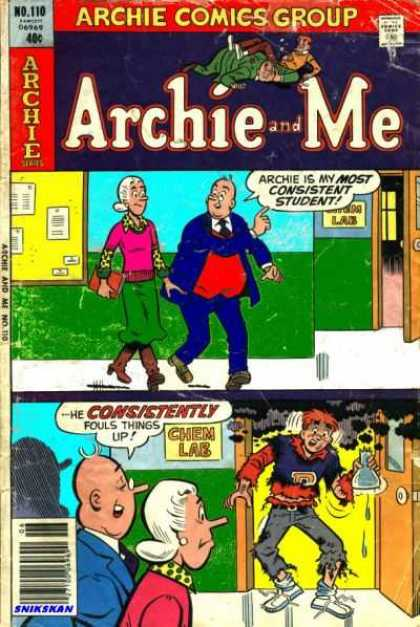 Archie and Me 110 - Archie Series - Comics Code - Granny - Man - Chem Lab