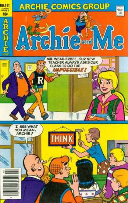 Archie and Me 111 - Mr Weatherbee - Archie - Betty - School - Think
