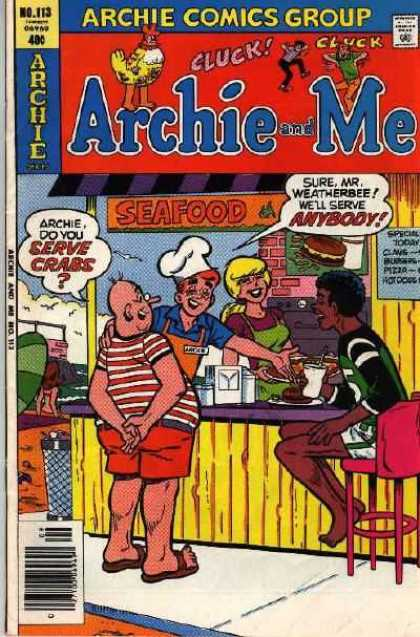 Archie and Me 113 - Pops - Betty And Archie - Chicken Man On Top - Number 113 - 48 Per Copy