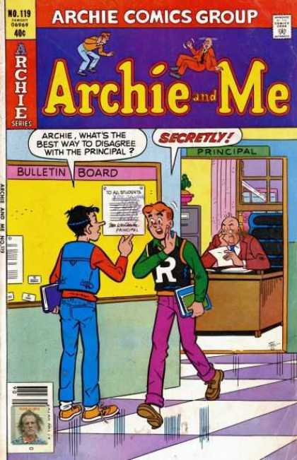 Archie and Me 119 - Principal - Principals Office - Bulletine Board - Message - Books - Stan Goldberg