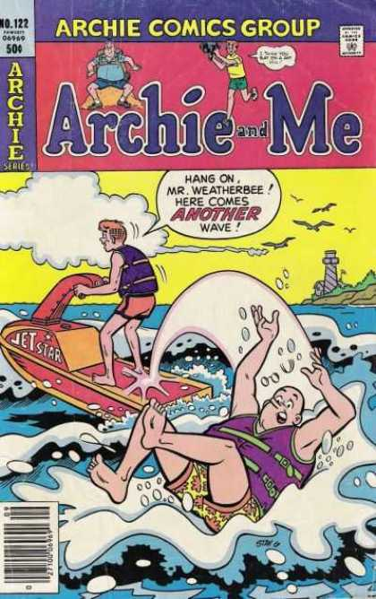 Archie and Me 122 - Jet Star - Ocean - Wave - Lighthouse - Life Jacket - Stan Goldberg