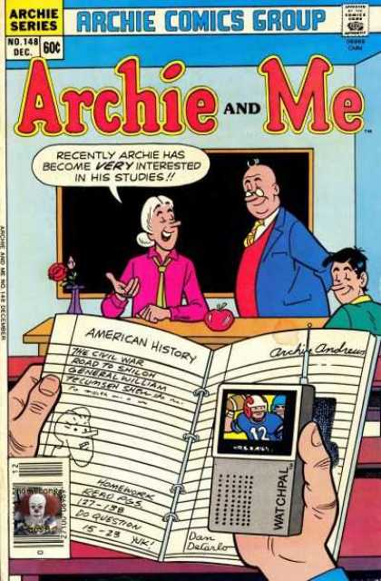 Archie and Me 148 - December - Archie And Me - School Room - Handheld Tv - Teacher