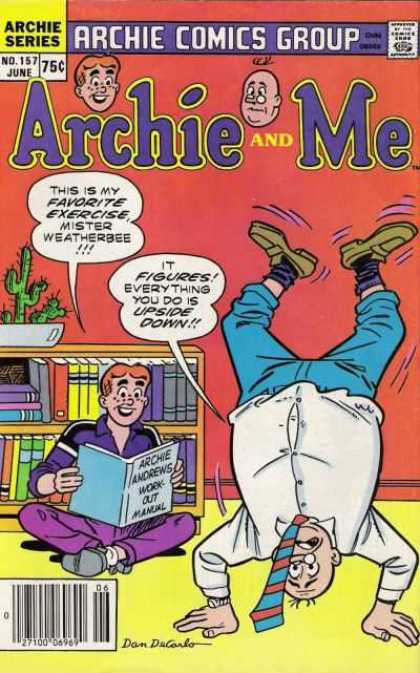 Archie and Me 157 - June - Cactus - Speech Bubble - Upside Down - 75 Cents
