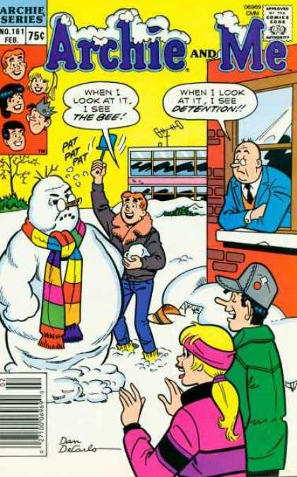 Archie and Me 161 - Detention - School - Snowman - Pat Pat Pat - Scarf