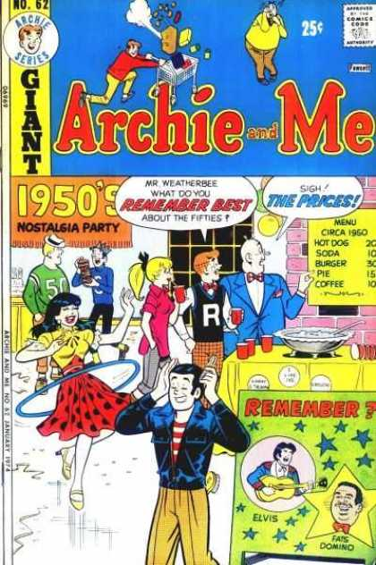 Archie and Me 62 - No 62 - 1950s Nostalgia Pary - 50s Prices - Veronica - Hula Hoop