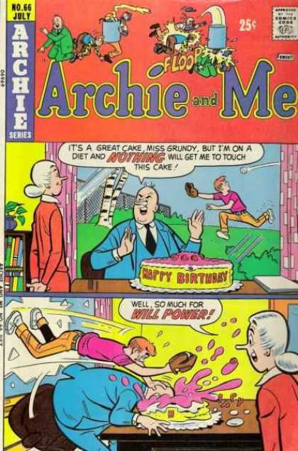 Archie and Me 66 - Cake - Diet - Baseball - Window - Irony