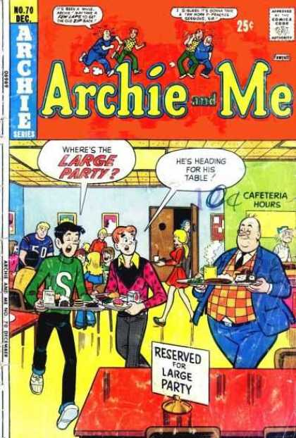 Archie and Me 70 - Jughead - Archie - Cafeteria - Principal - Food
