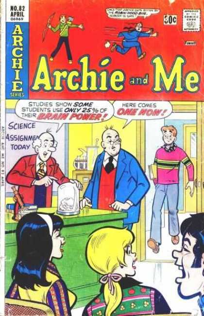 Archie and Me 82 - Beaker - Microscope - Betty - Veronica - School Book
