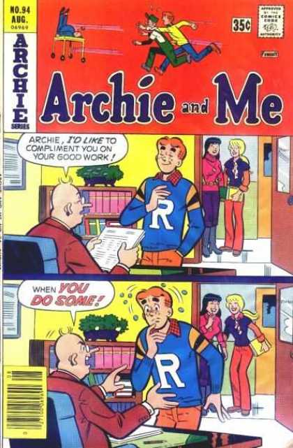 Archie and Me 94 - Archie Series - Compliment - Good Work - School - Orange
